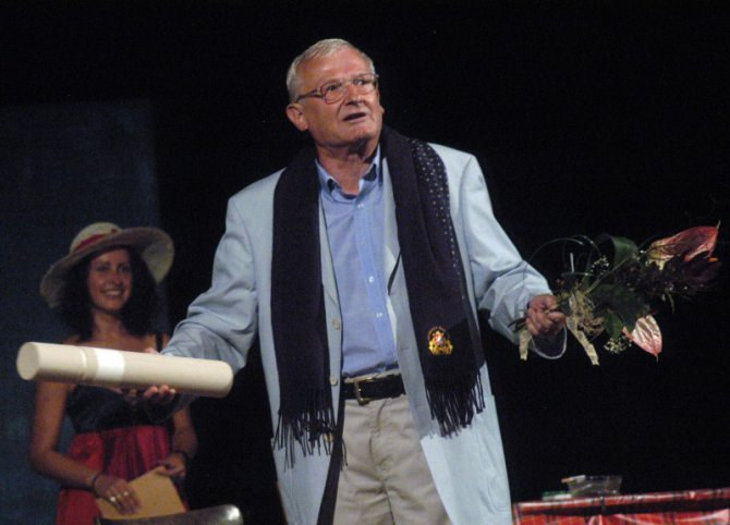 Jan Císař na Jiráskově Hronově 2004.Foto Ivo Mičkal
